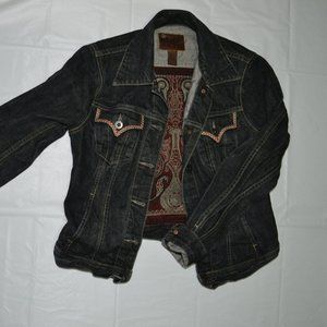 Jean jacket, denim, embroidered, rare design